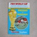 "Football programme  ""England vs Hungary"" 1981"