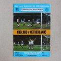 "Football programme  ""England vs Netherlands 1977"""