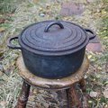 old cast iron pan from France