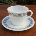 "JAJ ""Chelsea"" tea cup and saucer /PYREX"