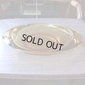 画像1: amber glass dish/tray