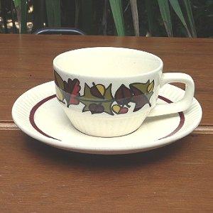画像1: Tea cup and saucer from Germany