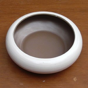"画像1: Poole Pottery ""Mushroom and Sepia"" small dish/bowl"