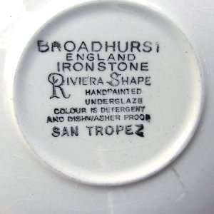 "画像4: Broadhurst ""San Tropez"" tea cup and saucer"