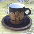 "Hornsea ""Midas"" coffee cup and saucer"