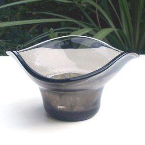 画像1: gray glass vase