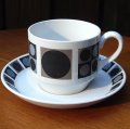 "Midwinter ""Focus"" tea cup and saucer design by barbara Brown"