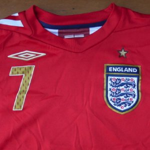 画像2: England official 'BECKHAM' shirt