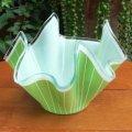 CHANCE GLASS handkerchief ornament/vase