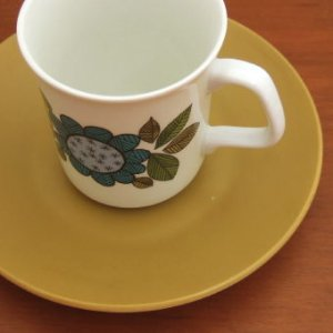 "画像3: J&G Meakin ""Topic"" coffee cup and saucer designed by Alan Rogers"