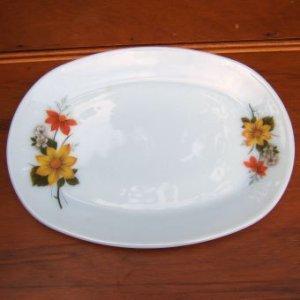 """画像1: JAJ/Pyrex """"Autumn Glory"""" steak plate/oval platter"""