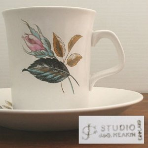 "画像2: J&G MEAKIN ""Night Club"" cup and saucer"