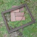 Wooden old picture frame