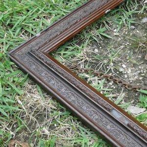 画像2: Wooden old picture frame