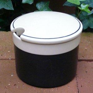 """画像1: Hornsea """"Ebony"""" sugar pot"""