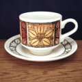 "Broadhurst ""Tashkent"" tea cup and saucer designed by Kathie Winkle"