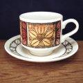 "Broadhurst ""Tashkent"" tea cup and saucer designed by Kathie Winkle"