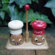 画像1: Wooden salt & pepper shaker (1)