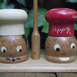 画像2: Wooden salt & pepper shaker