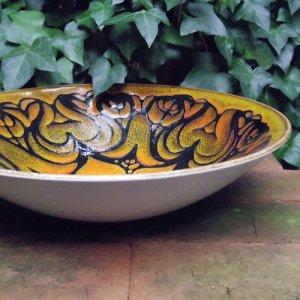 """画像2: Poole pottery """"Aegean"""" large bowl"""