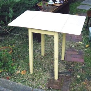 画像1: 1950's small kitchen table