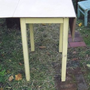 画像3: 1950's small kitchen table