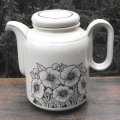 "Hornsea ""Cornrose"" coffee/tea pot"