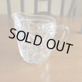 Glass milk pitcher from England
