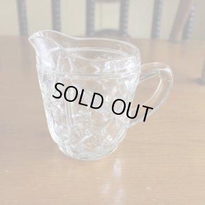 画像1: Glass milk pitcher from England