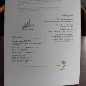 "画像5: ""Cruise ship"" menu 1962"