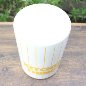 "画像3: Hornsea yellow stripe ""Kitchen Things"" pot"