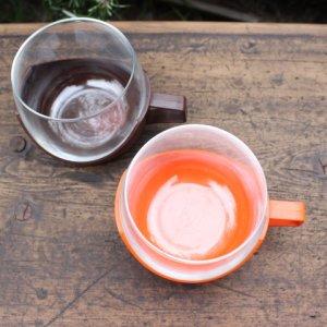 画像3: Vintage glass cup with holder from Europe