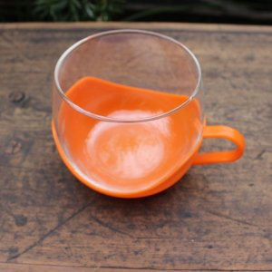 画像2: Vintage glass cup with holder from Europe