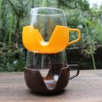画像2: Vintage glass cup with holder from Europe (2)