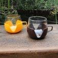 画像1: Vintage glass cup with holder from Europe (1)