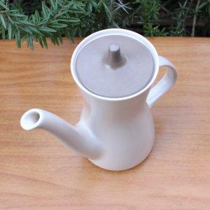 """画像2: Poole pottery """"Mushroom and Sepia"""" large tea pot"""