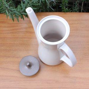 """画像3: Poole pottery """"Mushroom and Sepia"""" large tea pot"""