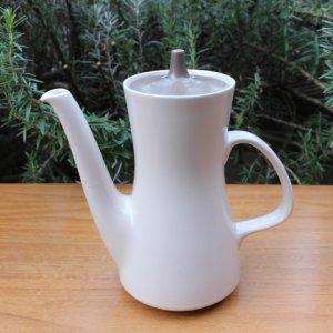 """画像1: Poole pottery """"Mushroom and Sepia"""" large tea pot"""