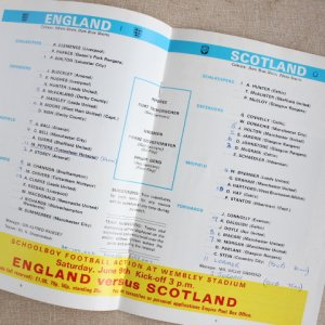 "画像3: Football programme  ""England vs Scotland"" 1973"
