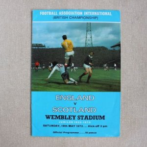 "画像1: Football programme  ""England vs Scotland"" 1973"