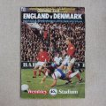 "Football programme  ""England vs Denmark 1979"""