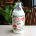 Vintage milk bottle from England