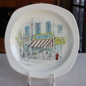 "画像1: Midwinter ""Riviera"" cake plate design by Hugh Casson"
