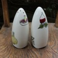 "Midwinter ""Salad ware"" salt & pepper shaker design Terence Conran"