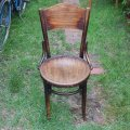 Fischel bentwood chair made in Czechoslovakia