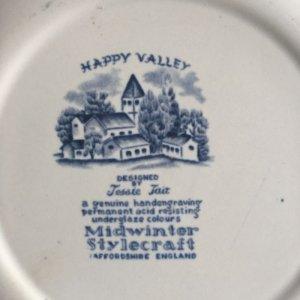 """画像4: Midwinter """"Happy Valley"""" plate designed by Jessie Tait"""