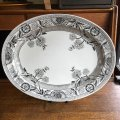 19th century antique oval plate from England