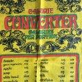 CALORIE CONVERTER vintage tea towel