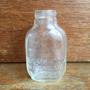画像1: Bisurated Magnesia Tablets old glass bottle