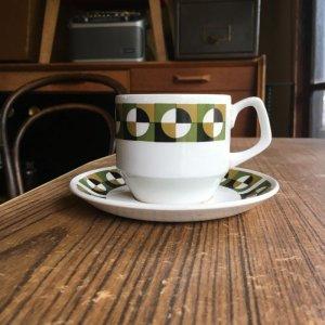 """画像3: Wood & Sons """"Alpine White"""" vintage op art ta cup and saucer"""